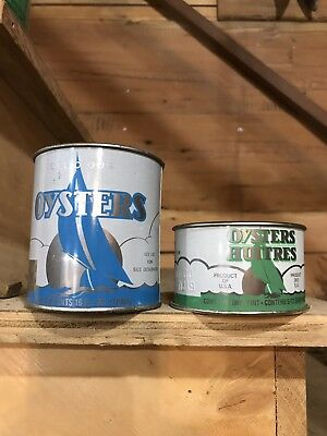 Oyster Tins Set Of Two