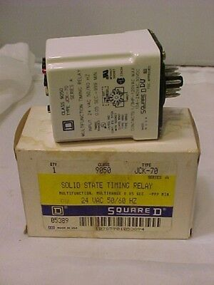 Square D 9050 Jck-70 Solid State Timing Relay 24 Vac