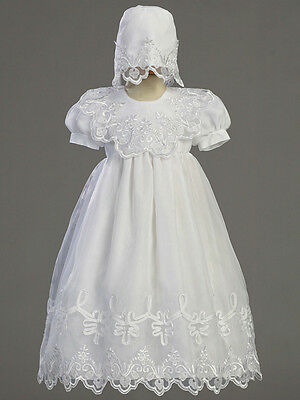 LITO Embroidered Organza Gown w/matching Bonnet  (2560)