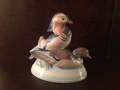 "Royal Copenhagen Geese #1863 ~ Signed ""Herald"" ~ First Quality"