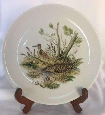 Schumann China Plate of two Birds Arzberg Germany Golden Crown