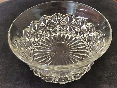 Vintage Small Cut Glass Bowl