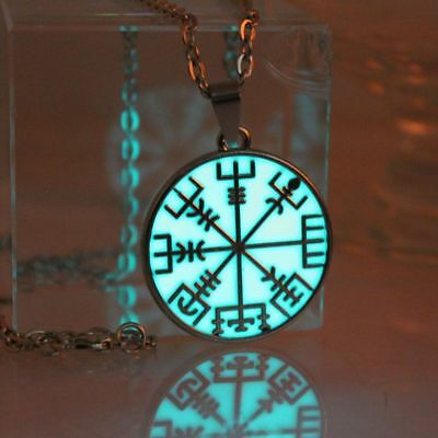Compass Necklace Pendant Glow Dark Luminous Locket Magic New Steampunk Jewelries