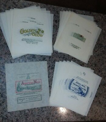 16 Vtg Butter Wrappers n-mint+ cond Centralia, Wash/Beaverton, Ore/Seattle, Wash