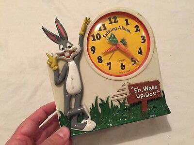 VINTAGE 1974 Janex BUGS BUNNY Talking Alarm Clock Toy Looney Toons