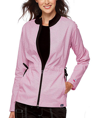 {SMALL} Taffords Zip Up Jacket Pink with Black Dots Retails $19.99+