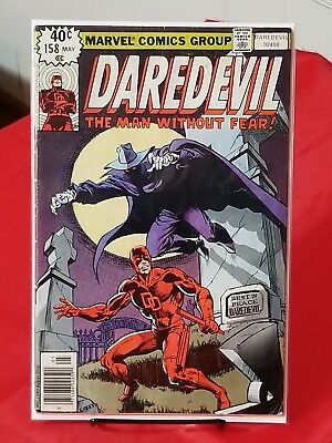 Daredevil #158 1979 First Frank Miller Marvel Key Issue Black Widow Appearance