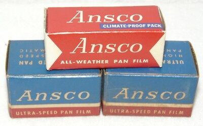 Ansco 135-1 & 127 Unopened Expired Film From The 1950'S & 60'S