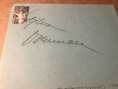 Lynne Overman Autograph, Actor In 1930s And 1940s
