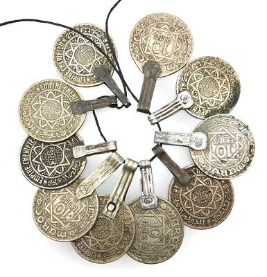 Vintage Moroccan Coins Beads Jewelry– 10