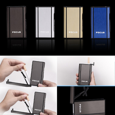 Automatic Windproof Lighter Box Ejection Butane Cigarette Case Holder Dispenser