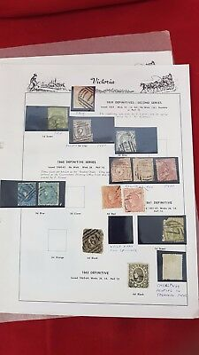Old Victoria Stamps On Pages - Valuable! Will Sell!