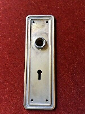 Antique Vintage Door Back Plate with key hole Stamped Steel