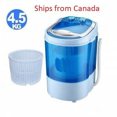 Portable Mini Washing Machine Compact Washer Spin Spinner + Dehydration Function
