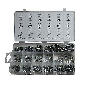 420 piece Metric Nut, Bolt and Washer Kit. 6 sizes (M3 - M6)..