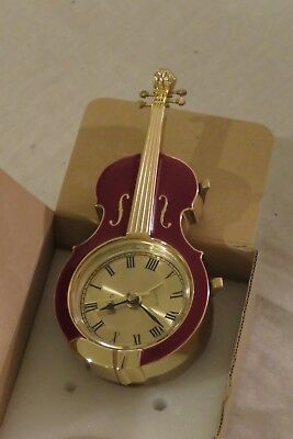 "Linden Quartz Alarm Clock - ""CELLO"" #994 Brown/Gold"