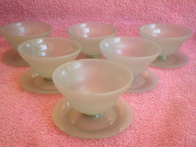 Set of 6 Vintage TUPPERWARE Grey Sundae Dishes - (H) 6cm