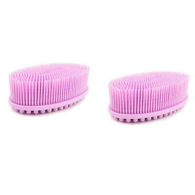 Bath and Shower Loofah Brush 2 in 1 Face and Body scrub Gentle body brush Ski SS