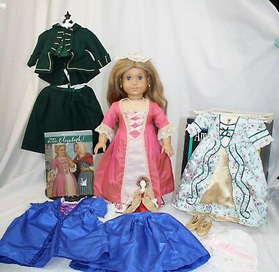 """American Girl Elizabeth 18"""" Doll, + Lot of Clothes + some for Felicity Retired"""