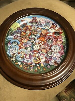 """Franklin Mint Easter Purrade 8"""" Plate"""