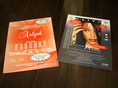 "AALIYAH 2 ads for hits ""More Than A Woman"" and ""Miss You"""