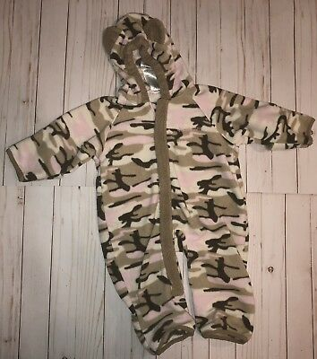 af8e17caffa1 BABY GIRL TODDLER size 12 Months Columbia fleece Snow Suit Bunting ...