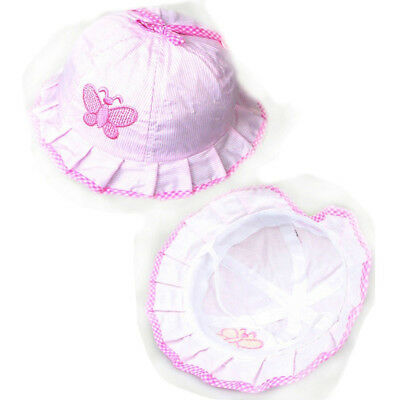 Girls Baby Cotton Baby Butterfly Hats Caps Infant Sun Hats Cotton Baby Hats