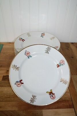 "Asian China Set of Six - 9"" Luncheon or Dinner Plates"