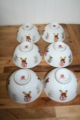 "Asian China Set of Six - 4.5"" Rice Bowls"