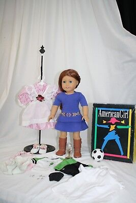 """American Girl Saige 18"""" Doll, + Lot of AG Clothes"""