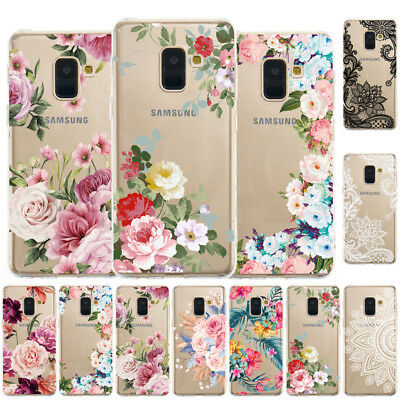For Samsung J8 J6 J4 Plus 2018 Slim Soft Silicone Clear Painted TPU Case Cover
