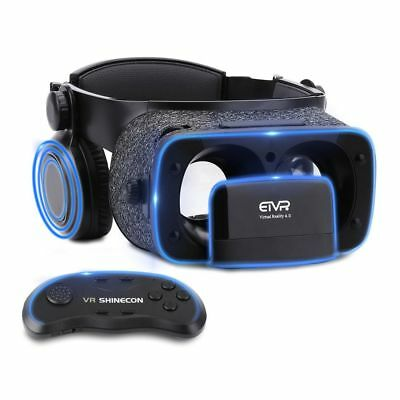 Ultralight Virtual Reality Headset with Stereo Headphones, 3D VR Glasses for VR