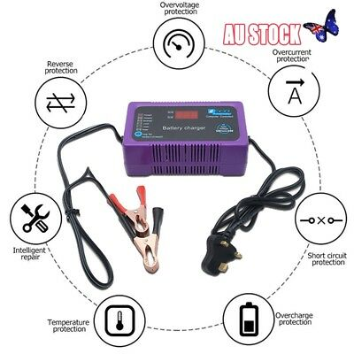 12V/24V 200AH Electric Car Dry&wet Battery Charger Intelligent Pulse Repair ++