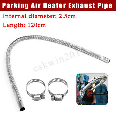 120cm Exhaust Gas Pipe 25mm Silencer Muffle For Vehicle Car Air Diesel Heater