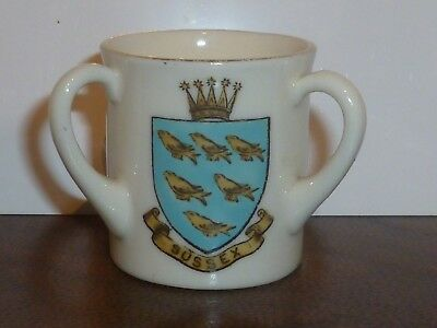 WH GOSS Crested China Loving Cup. Sussex, Brighton & Floreat Hova
