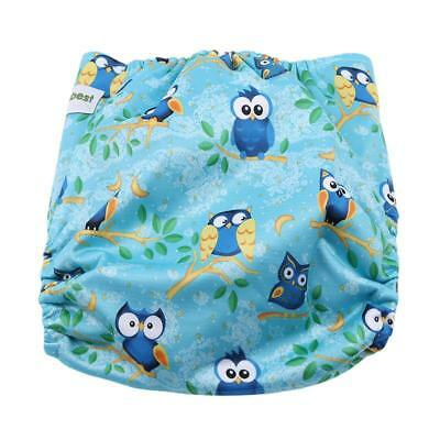 1X Baby Infant Nappies Diapers Reusable Adjustable Washable Cute Pattern New FI