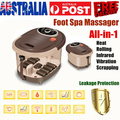 10L Large 8 Massage Rollers Pedicure Foot SPA Relief Tired Feet Bath Relax New