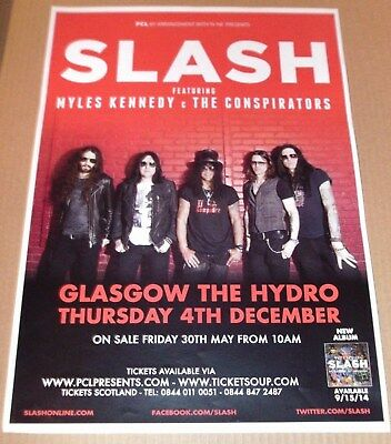 SLASH - Guns N' Roses - live band music show promotional tour concert gig poster