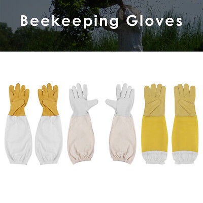 Beekeeping Gloves Goatskin Bee Keeping with Vented Beekeeper Long Sleeves