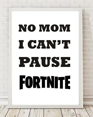 Funny Gaming Fortnite A4 Poster Print PO192