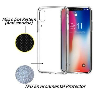 iPhone X XS Max XR Case 8 7 Plus Clear TPU Slim Soft Silicone Cover for Apple