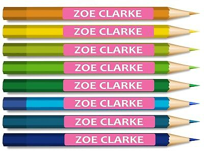 200 x Kids Pencil Pen Stationary Name school labels personalised Stickers Small