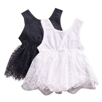 Newborn Infant Kids Baby Girl Romper Jumpsuit Bodysuit Tutu Dress Clothes Outfit