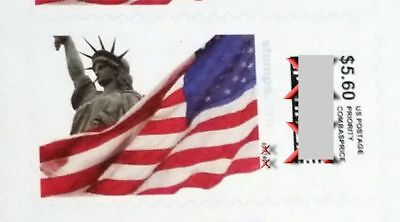 Priority Mail Stamps. 24 pieces $5.60 Stamps, one sheet face value $134.40