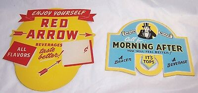 1940s Advertising Beverage Soda Bottle Displays:Morning After Chaser,Red Arrow