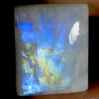 19.05cts Natural Blue Flashy Rainbow Moonstone Octagon Cabochon Gemstone