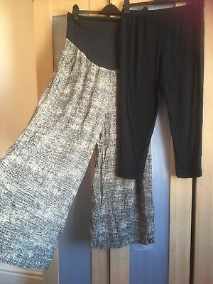 Maternity Bundle Lounge Trousers & Leggings Size 12-14 Over Bump Next & New Look