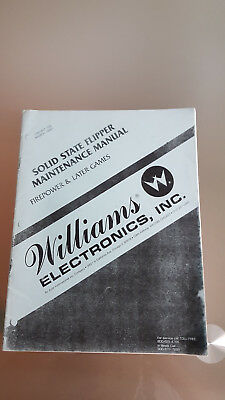 Williams Flipper Maintenance Manual Handbuch Anleitung 1980