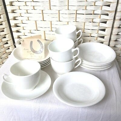 Vintage White Bone China TeaSet 1 Cup Missing 1945 Wrapped in Original NewsPaper