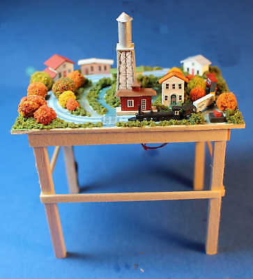 Model train set- classic - 1/12 scale artist dollhouse miniature